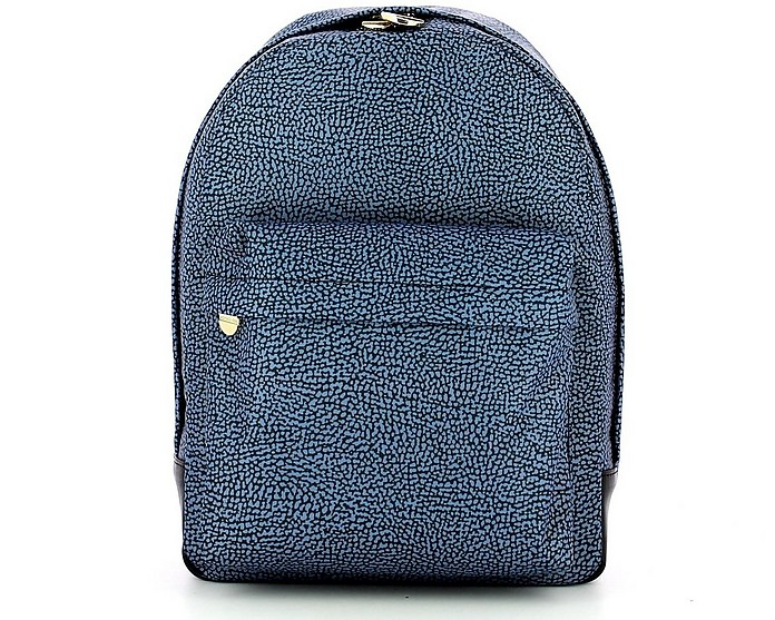 Blue Medium Backpack - Borbonese