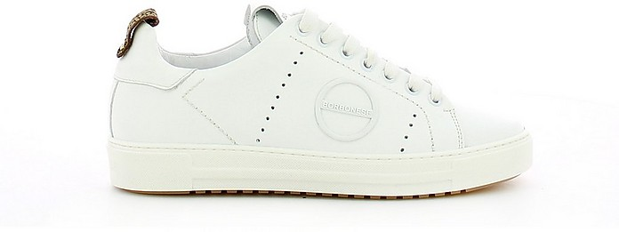 White Leather Flat Sneakers - Borbonese