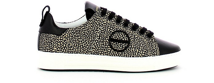 Black James Jet Print Women's Sneakers - Borbonese