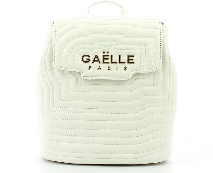 Women's White Backpack - GAELLE PARIS