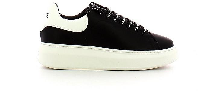 Black Signature Lace Up Sneakers - GAELLE PARIS