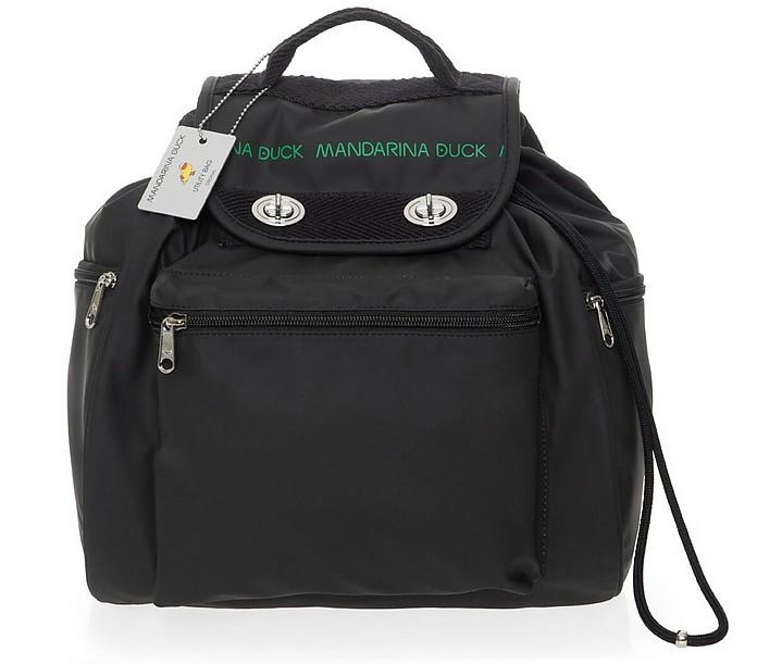 Black Utility Backpack - MANDARINA DUCK