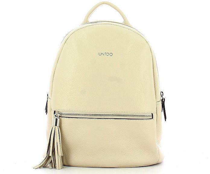 Women's Beige Backpack - IUNTOO