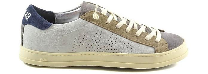 Color Block Suede Men's Sneakers - P448