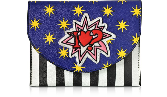 Miracle Pop Love Leather Clutch - Alessandro Enriquez