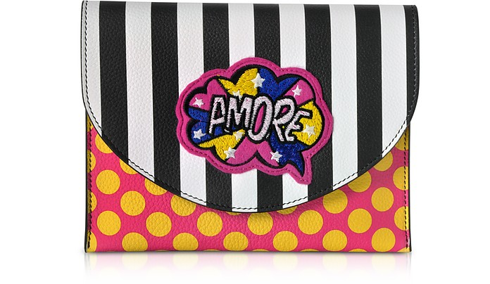 Miracle Pop Amore Leather Clutch - Alessandro Enriquez