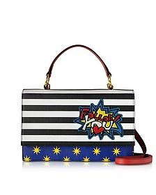 Pheme Pop Follow You Leather Top Handle Shoulder Bag - Alessandro Enriquez