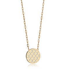 Melrose Yellow Gold Over Bronze Necklace w/Round Charm - Rebecca