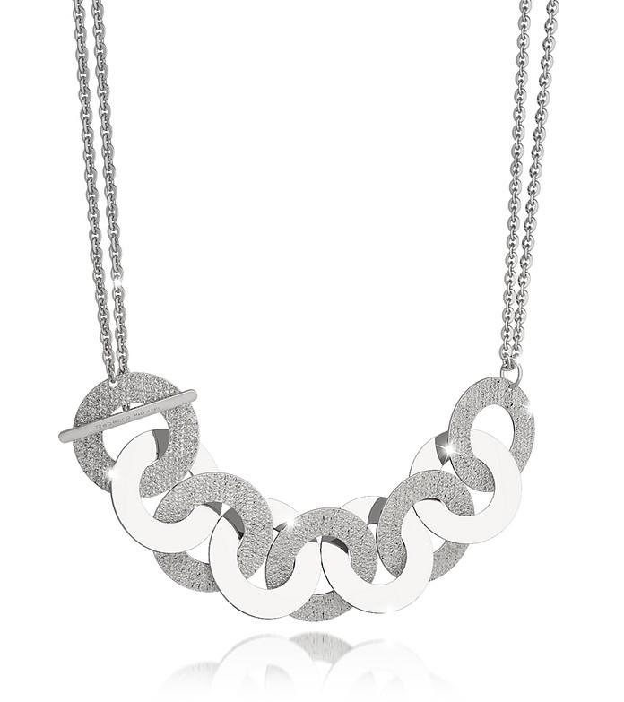 R-Zero Rhodium Over Bronze and Steel Maxi Chain Necklace - Rebecca
