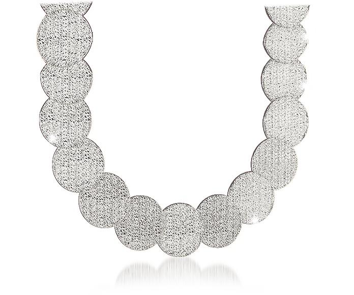 R-ZERO Rhodium Over Bronze Necklace - Rebecca