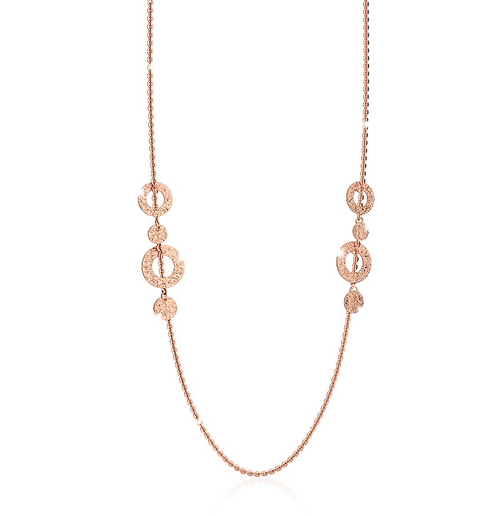 R-ZERO Rose Gold Over Bronze Necklace - Rebecca