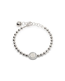 Boulevard Stone Rhodium Over Bronze Bracelet w/Stones - Rebecca