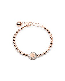 Boulevard Stone Rose Gold Over Bronze Bracelet w/Stones - Rebecca