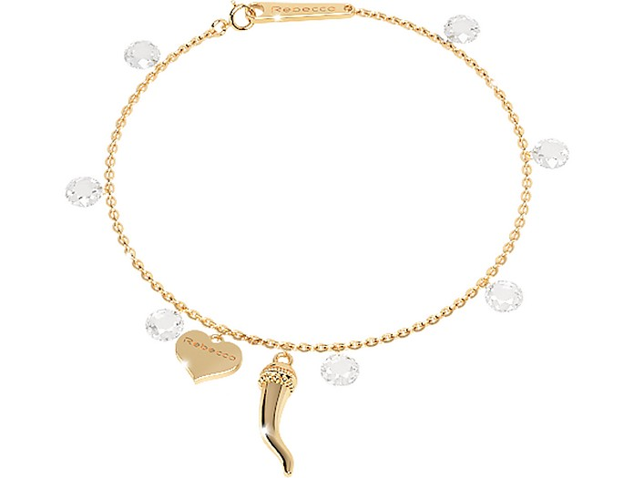 Lucciole Sterling Silver Gold Plated Bracelet w/Crystals - Rebecca / レベッカ