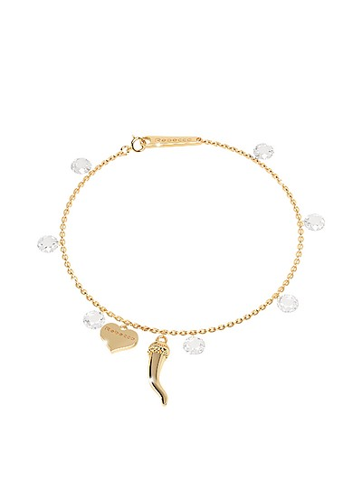 Lucciole Sterling Silver Gold Plated Bracelet w/Crystals - Rebecca