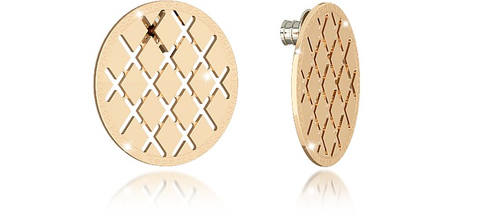 Melrose Yellow Gold Over Bronze Stud Earring - Rebecca