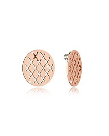 Melrose Rose Gold Over Bronze Stud Earring - Rebecca