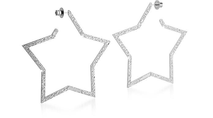 R-ZERO Rhodium Over Bronze Star Earrings - Rebecca