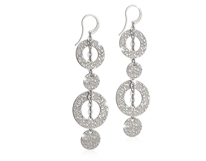 R-ZERO Rhodium Over Bronze Pendant Earrings - Rebecca
