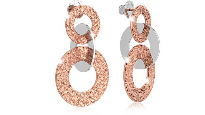 R-ZERO Rose Gold Over Bronze Earrings - Rebecca