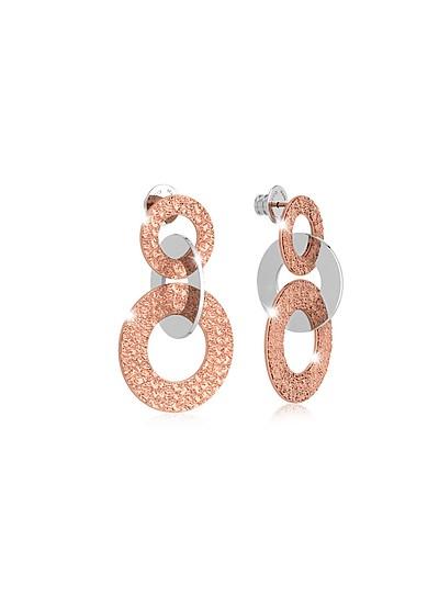 R-ZERO Rose Gold Over Bronze Earrings - Rebecca