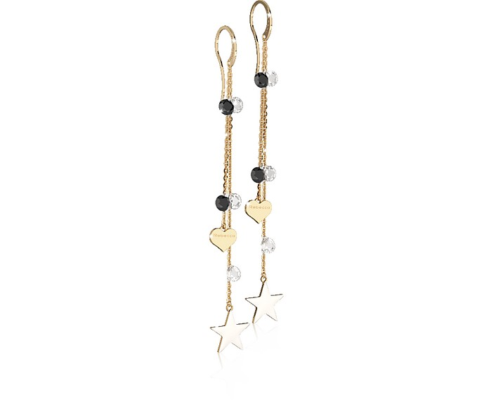 Lucciole Gold Plated Sterling Silver Earrings w/Crystals - Rebecca