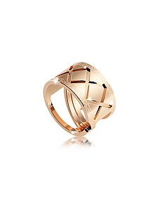 Melrose Yellow Gold Over Bronze Ring - Rebecca