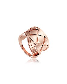 Melrose Rose Gold Over Bronze Ring - Rebecca