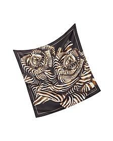 Animal Print Silk Square Scarf