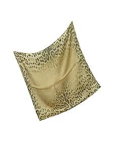 Leopard Silk Square Scarf