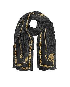 RC Printed Silk Stole - Roberto Cavalli