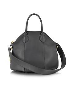 Goa Black Small Leather Handbag