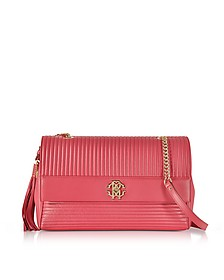 Tulip Quilted Leather Large Shoulder Bag - Roberto Cavalli