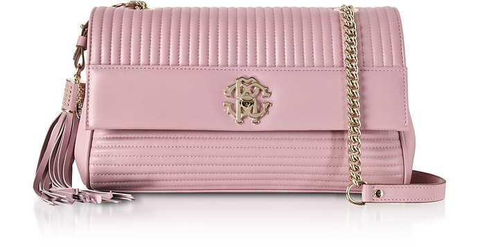 Quilted Nappa Leather Shoulder Bag - Roberto Cavalli