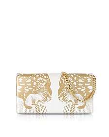 Juno Small Tiger Printed Leather Clutch