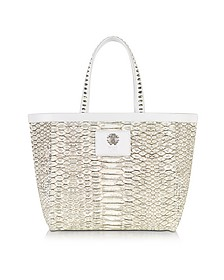Flo Python Stamped Canvas Small Tote