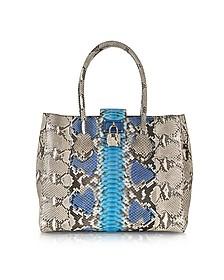 Nuova Florence Azure Python Handbag