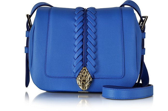 Serpent Smooth Leather Small Flap Shoulder Bag - Roberto Cavalli
