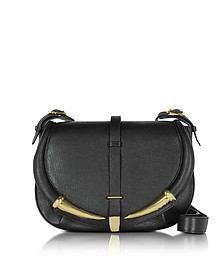 Black Kripton Leather Shoulder Bag - Roberto Cavalli