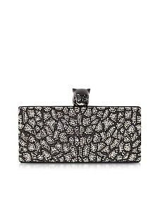 Panther Minaudiere Clutch w/Crystals
