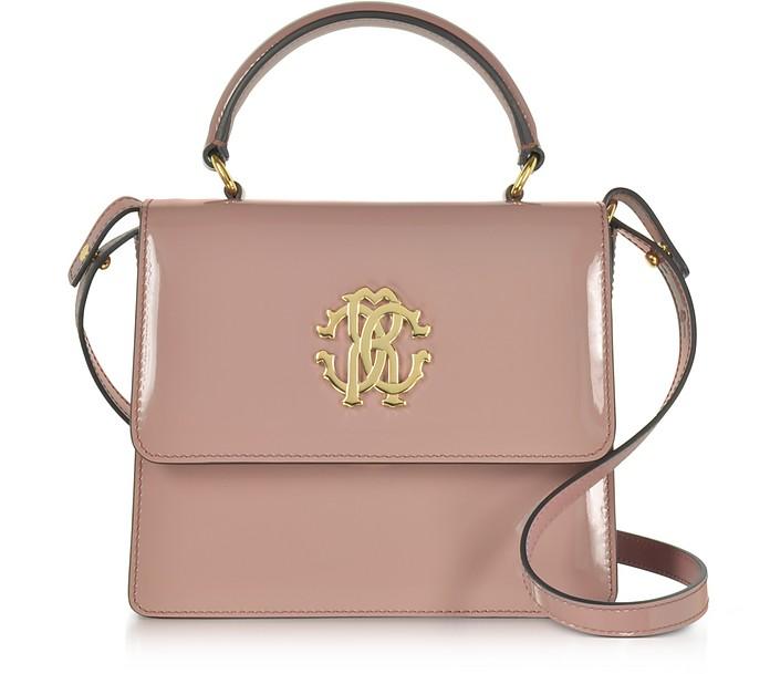 Roberto Cavalli Cappuccino Patent Leather Small Satchel Bag at FORZIERI 28c417f34