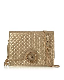Small Gold Nappa Star Quilted Leather Shoulder Bag - Roberto Cavalli