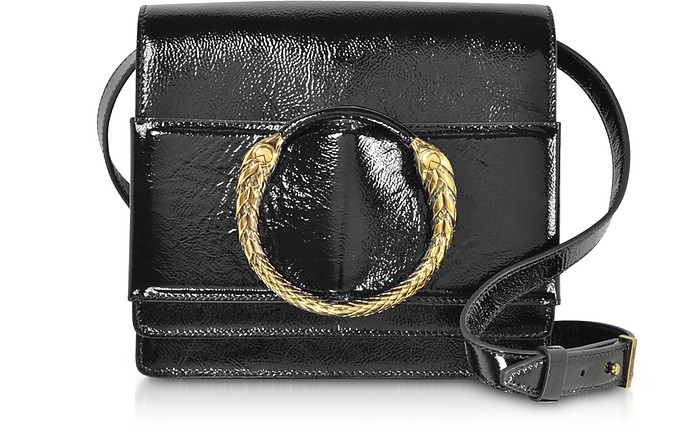 Black Patent Leather Crossbody Bag - Roberto Cavalli