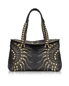 Regina Black Golden Studs Small Satchel
