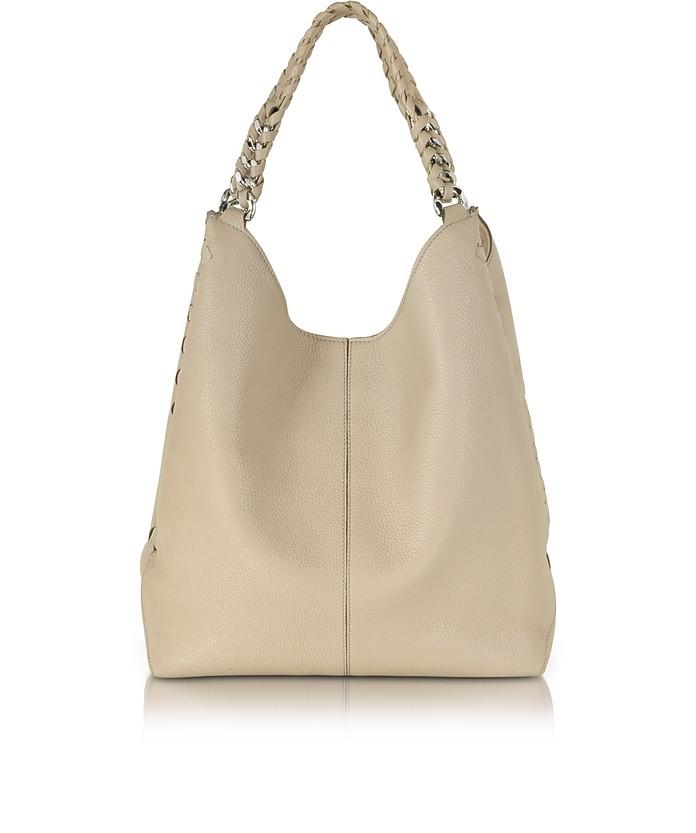 Desert Sand Leather Hobo Bag - Roberto Cavalli