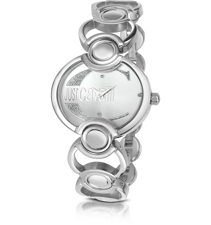 Decor - Crystal Logo Bracelet Watch - Just Cavalli