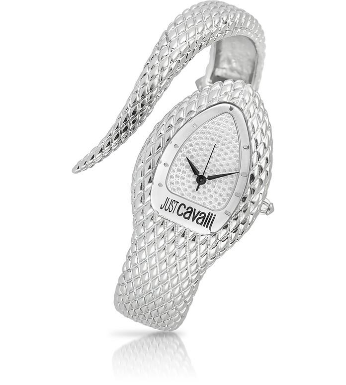 Poison - Silver Serpent Bracelet Watch - Just Cavalli