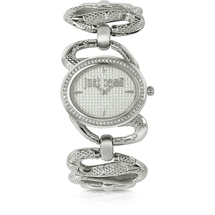 Sinuous - Silver Dial Bracelet Watch - Just Cavalli