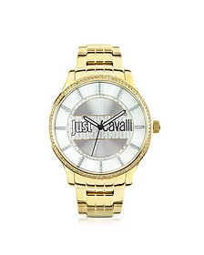 Huge Collection Plated Gold Finish Watch - Just Cavalli