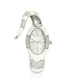 Poison Jc 3H Silver Dial Stainless Steel Women's Watch - Just Cavalli